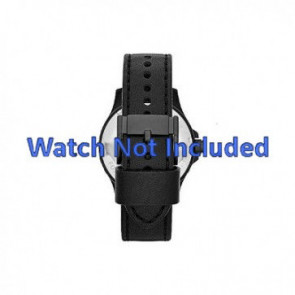 Fossil horlogeband JR1448 Leder Zwart 22mm + standaard stiksel