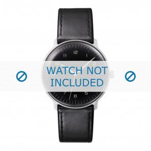 Junghans horlogeband 027/3400.00 Leder Zwart 20mm + standaard stiksel