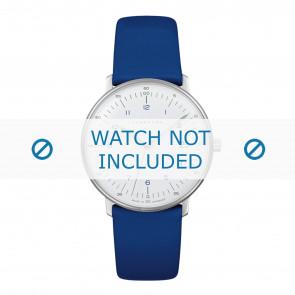 Junghans horlogeband 047/4540.00 Leder Blauw 17mm