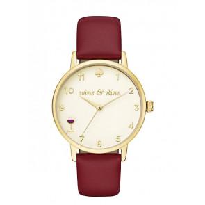 Kate Spade New York horlogeband KSW1188 / METRO Leder Rood