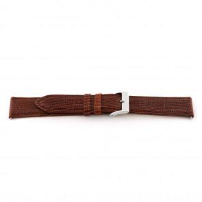 Echt lederen horloge band lizard croco bruin 14mm EX-G62