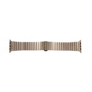 Apple (vervangend) horlogeband LS-AB-107 Staal Goud (Rosé) 42mm