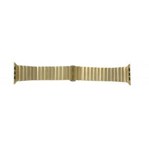 Apple (vervangend) horlogeband LS-AB-107 Staal Goud (Doublé) 42mm