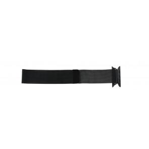 Apple (vervangend) horlogeband LS.AB.108 Staal Zwart 42mm