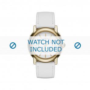 Marc by Marc Jacobs horlogeband MJ1449 Leder Wit 18mm