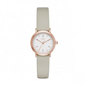 Horlogeband DKNY NY2514 Leder Taupe 14mm
