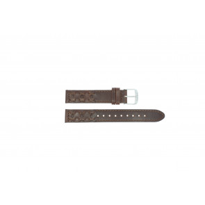 Timex horlogeband P2N902 Leder Donkerbruin 16mm