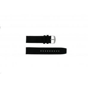 Timex horlogeband P49863 / 49863 / T49863 Canvas Zwart 22mm + zwart stiksel