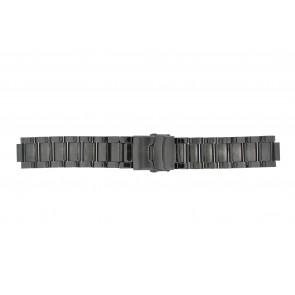 Q&Q horlogeband QQ13ST-AC-ST Staal Antracietgrijs 13mm
