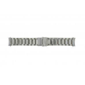 Horlogeband QQ22STROU Staal Zilver 22mm