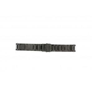 Horlogeband QQ22ZWR Staal Zwart 22mm