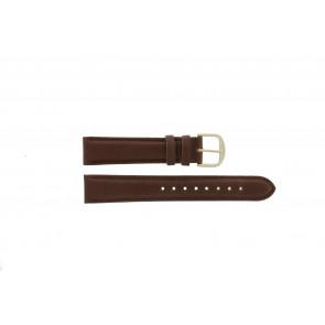 Q&Q horlogeband QQ18LDBG-GD Leder Bruin 18mm + bruin stiksel