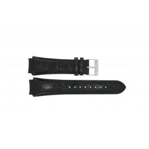 Prisma horlogeband SPECZW21 Leder Zwart 21mm + zwart stiksel