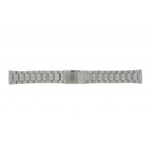 Other brand horlogeband ST22Z Staal Zilver 22mm