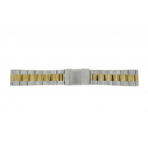 Other brand horlogeband 1014-20-BI Staal Bi-Color 20mm