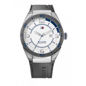 Horlogeband Tommy Hilfiger TH12512909 / TH675010692 Rubber Grijs