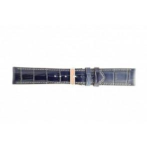 Echt lederen band croco donker blauw WP-61324.30mm