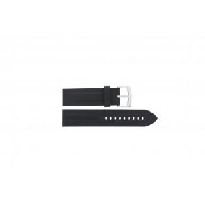 Armani horlogeband AR0527 Vanille / AR0532 / AR0559 / AR5826 / AR0559 Silicoon Zwart 23mm