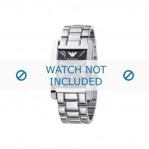 Armani horlogeband AR0156 Staal Zilver