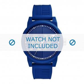 Armani horlogeband AX1454 Rubber Blauw 22mm