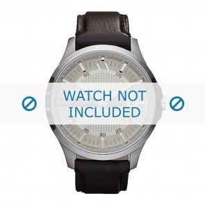 Armani horlogeband AX2100 Leder Donkerbruin 22mm + bruin stiksel