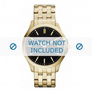 Armani horlogeband AX2145 Staal Goud