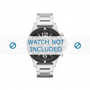 Armani horlogeband AX-1501 Staal Zilver 22mm