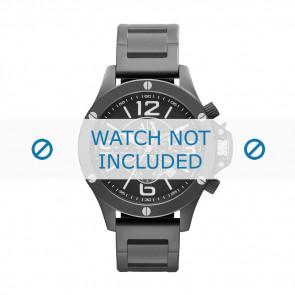 Armani horlogeband AX-1503 Staal Zwart 22mm