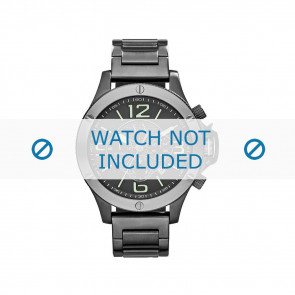 Armani horlogeband AX-1507 Staal Grijs 22mm