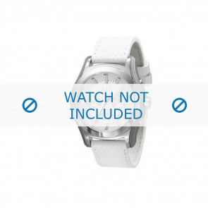 Armani horlogeband AX-2071 Leder Wit 22mm