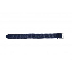 Perlon band 20mm blauw