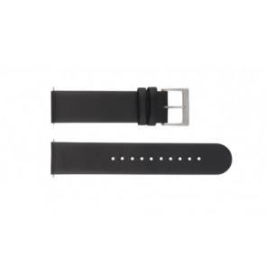 Mondaine horlogeband BM20001 / FE16220.20Q Leder Zwart 20mm