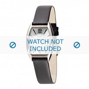 Boccia horlogeband 3157-02-BO3157-02-40 Leder Zwart