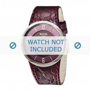 Boccia horlogeband 3161-06-BO3161-06-40 Croco leder Paars 26mm + paars stiksel