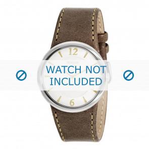 Boccia horlogeband 3161-09-BO3161-09-40 Leder Bruin 26mm + bruin stiksel