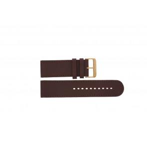 Prisma horlogeband DBR27 Leder Bruin 27mm + bruin stiksel