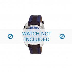Breil horlogeband BW0322 Leder Blauw + blauw stiksel