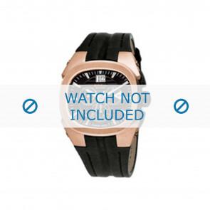 Breil horlogeband BW0413 / F26005558 Leder Zwart + zwart stiksel