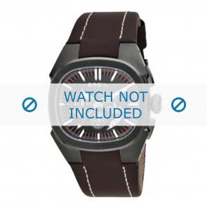 Breil horlogeband BW0306 Leder Bruin + wit stiksel