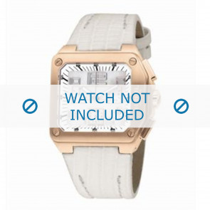 Breil horlogeband BW0399 Leder Wit + wit stiksel