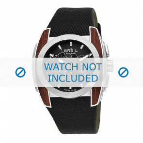 Breil horlogeband BW0506 Rubber Zwart