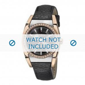 Breil horlogeband TW0966 Leder Zwart + zwart stiksel