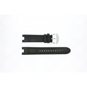 Buddha to Buddha horlogeband 46mm / BTB.M.D.3H.02 Leder Zwart 21mm + zwart stiksel