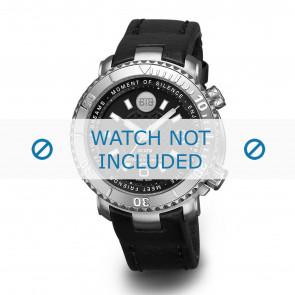 Buddha to Buddha horlogeband 39mm / BTB.F.D.3H.04 Leder Zwart + zwart stiksel