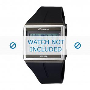 Calypso horlogeband K6059-1 / K6059-2 / K6059-3 / K6059-4  Rubber Zwart