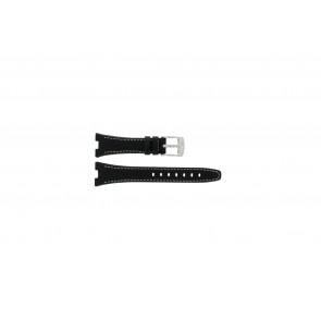 Camel horlogeband 6000-6007 Leder Zwart 22mm + wit stiksel