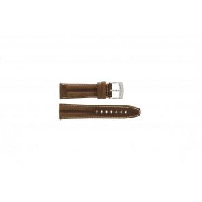 Camel horlogeband 6720-6729 / 6760-6769 Leder Bruin 22mm + wit stiksel