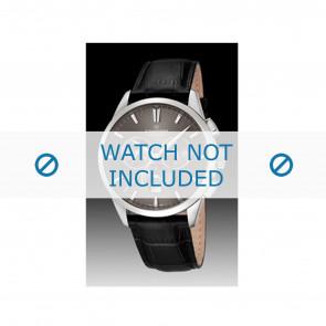Candino horlogeband C4517-2 Leder Zwart + zwart stiksel