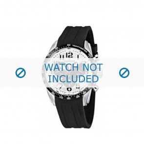 Candino horlogeband C4472-1 / C4472-2 / C4472-3 / C4472-4 Rubber Zwart 22mm