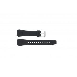 Casio horlogeband EFA-124-1AVW Rubber Zwart 20mm